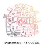 illustration of modern line... | Shutterstock . vector #457708138