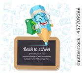 back to school background | Shutterstock .eps vector #457709266