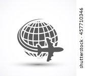 travel the world plane icon...