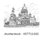 saint isaac cathedral and the... | Shutterstock .eps vector #457711102