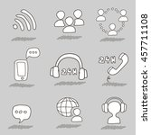 call center hand drawn icons | Shutterstock . vector #457711108