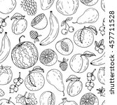 seamless hand drawn fruit ... | Shutterstock .eps vector #457711528