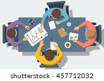 discussion at meeting. teamwork ... | Shutterstock .eps vector #457712032
