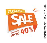 clearance sale orange tag 40... | Shutterstock .eps vector #457715686