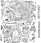 doodle sketch drawing vector | Shutterstock .eps vector #45771907