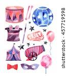 circus watercolor set | Shutterstock . vector #457719598