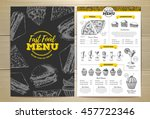 vintage fast food menu design.... | Shutterstock .eps vector #457722346