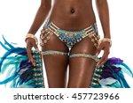 mid section of samba dancer in...   Shutterstock . vector #457723966