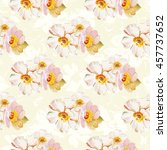 seamless pattern with white... | Shutterstock .eps vector #457737652