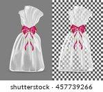 transparent blank foil or paper ... | Shutterstock .eps vector #457739266