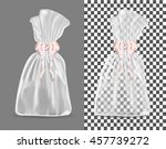 transparent blank foil or paper ... | Shutterstock .eps vector #457739272