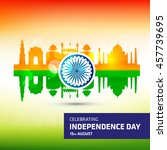 creative indian revolution day... | Shutterstock .eps vector #457739695