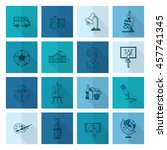 school and education icon set.... | Shutterstock .eps vector #457741345