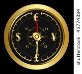 bright money golden compass ... | Shutterstock .eps vector #45774334