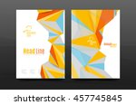 3d triangle shapes. business... | Shutterstock .eps vector #457745845