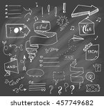 vector hand drawn set on grey... | Shutterstock .eps vector #457749682