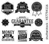 vector set of quality guarantee ... | Shutterstock .eps vector #457754116