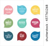 modern badges and labels... | Shutterstock .eps vector #457761268