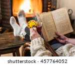 Hot Mulled Wine And Book In...