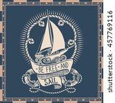 nautical retro drawing of...