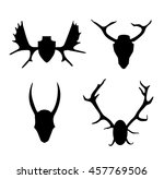 set of contours horns  antlers. ... | Shutterstock . vector #457769506