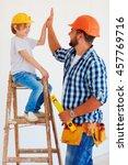 high five  well done  dude ...   Shutterstock . vector #457769716