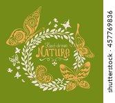 fine floral ornamental frame...   Shutterstock .eps vector #457769836
