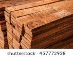 edging wood board in stacks. | Shutterstock . vector #457772938