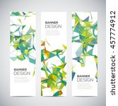 banners with abstract colorful... | Shutterstock .eps vector #457774912