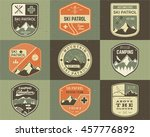 set of retro style ski club ... | Shutterstock . vector #457776892