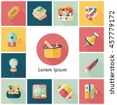 school and education icons set | Shutterstock .eps vector #457779172