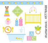vector illustration of baby... | Shutterstock .eps vector #45778468