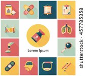 hospital and health icons set   Shutterstock .eps vector #457785358