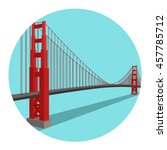 golden gate bridge. vector... | Shutterstock .eps vector #457785712