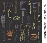pattern of doodles on a theme... | Shutterstock .eps vector #457786276