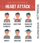 heart attack vector infographic....