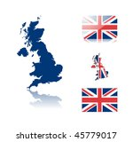 british map including  map with ... | Shutterstock .eps vector #45779017