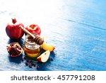 rosh hashanah  jewesh holiday ... | Shutterstock . vector #457791208