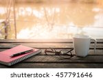 morning lifestyle scene. pen ... | Shutterstock . vector #457791646