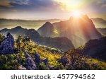raylight sunset landscape at... | Shutterstock . vector #457794562
