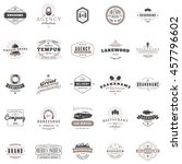 set of vintage retro logotype... | Shutterstock .eps vector #457796602