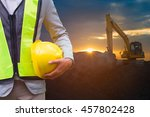 engineer or safety officer...   Shutterstock . vector #457802428