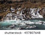 bjarnafoss waterfall   Shutterstock . vector #457807648