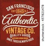 vintage typography  t shirt... | Shutterstock .eps vector #457821478