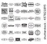 back to school calligraphic...   Shutterstock .eps vector #457821895
