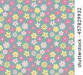 meadow flower seamless pattern | Shutterstock .eps vector #457829932