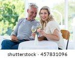 portrait of smiling mature... | Shutterstock . vector #457831096