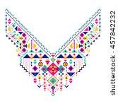 geometric ethnic pattern....   Shutterstock .eps vector #457842232