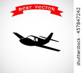 airplane sign icon  vector... | Shutterstock .eps vector #457847242