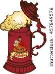 image of the vintage german mug ... | Shutterstock .eps vector #457849576